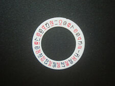 WHITE BLACK-RED DATE DISC WHEEL OVERLAY FOR ETA2836 DG2813 MIYOTA FIT ROLEX GMT