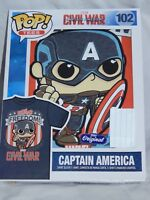 NEW Captain America Funko Pop T Shirt Marvel Comic Book Figure Avengers S M L XL