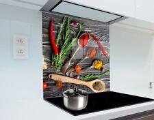 Kitchen Glass Splashback Heat Resistant Toughened Glass 60cm x 65cm