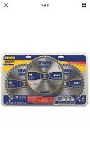 "3 Pack 10"" Diamond Ground Teeth Circular Saw Blade Set Industrial Cutting Tools"