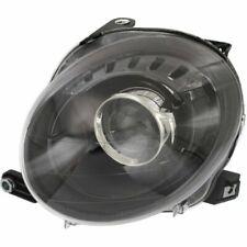FIAT 500 2012-2016 LEFT DRIVER BLACK HEADLIGHT HEAD LIGHT LAMP FRONT NEW W/BULBS