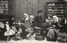 FINISTÈRE. Fabricant de Tamis a Bannalec 1900 old antique print picture