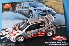 PEUGEOT 206 WRC #20 TEAM ROBERT BEDON RALLYE MONTE CARLO 2003 IXO 1/43 RALLY