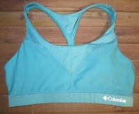 Columbia High Support Racerback Sports Bra Top Padded Womens Large Blue