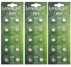 30 Pk AG3 LR41 392 392A SR736 LR736 Alkaline Button Cell Battery