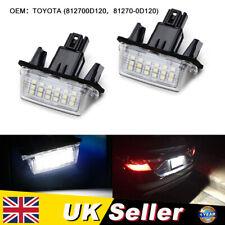2x LED Licence Number Plate Light For TOYOTA Auris Hatchback Proace Yaris Avensi
