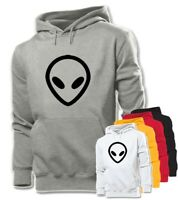 Unisex Mens Boys Ladies Womens Fashion UFO Alien FACE Sweatshirt Hoodie Pullover