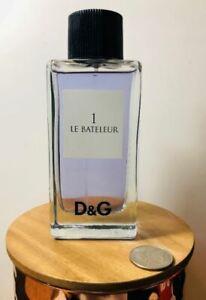 D&G 1 Le Bateleur Eau de Toilette Spray For Men 3.3 oz New * Unboxed * Vintage