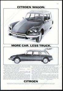 1969 Citroen station wagon 2 car photo vintage print ad