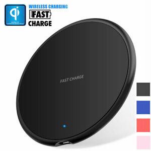Qi Wireless Fast Charger Charging Pad Mat For Samsung iPhone 11 Pro XS S10 S9 S8
