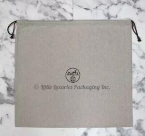 BRAND NEW Authentic Hermes Birkin 30 Herringbone Drawstring Dust Bag 21.5 x 19.5