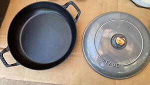 Staub Round Baker cast Iron With Lid 11 3/4 30CM Gray