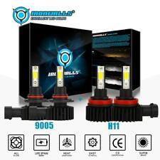 New listing 4x Combo 9005+H11 Led Headlight Bulbs Conversion Kit High Low Beam 6000K White