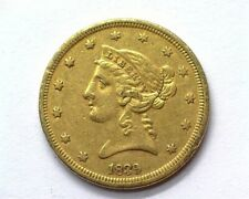 1839 LIBERTY HEAD $5 GOLD CHOICE ALMOST UNCIRCULATED SCARCE THIS NICE!!