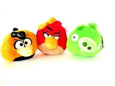 """Angry Birds Plush Red, Yellow and Green 3 Plush Doll 5"""" New  ( No Sound)"""