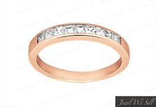 0.27ct Diamond Wedding Band Ring 14k Rose Gold Princess Cut Channel I SI2