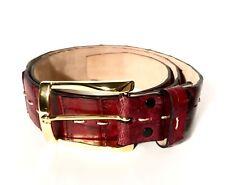 Finamore Napoli Burgundy Crocodile Leather Belt 95/105