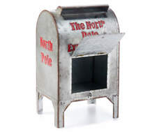 The North Pole Express Post Galvanized  Metal Mail Box