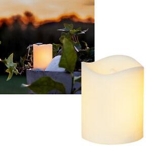 """Mini Outdoor LED-Kerze """"FLAME"""" Feuer-Effekt mit TIMER für Laterne Außen Garten"""