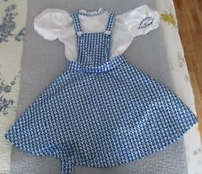 """RUBIE'S CHILD'S THE WIZARD OF OZ """"DOROTHY"""" COSTUME. SIZE M 8-10. PREOWNED (6348)"""