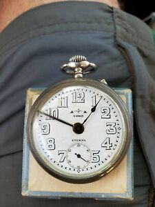Vintage Eterna 42203 Pocket Watch Eterna