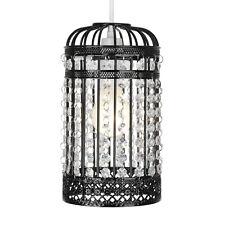 Modern Black Shabby Chic Birdcage Ceiling Light Pendant Lamp Shade Lampshade NEW