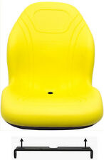 John Deere Yellow Mower Seat W/Bracket For X300 & X500 Series Fits X304 X324 ETC