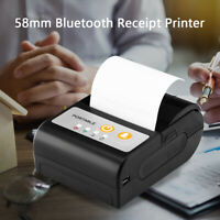 Portable 58mm Wireless Bluetooth Printer Label Ticket Printer for Android / iOS