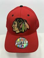 "Chicago Blackhawks NHL Original Zephyr 7 3/4"" Fitted Cap Red, NEW!"
