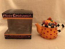Mary Engelbreit Teapot Trinket Box Miniature Yellow Hearts