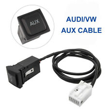Car AUX USB Cable Switch Button For VW JETTA GOLF MK6 MK5 RCD510 Black New AU