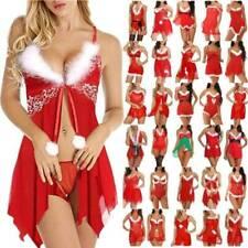 Women Christmas Xmas Sexy Lingerie Babydoll Sleepwear Nightie Dress Nightwear