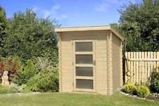 Gartenhäuser & Geräteschuppen mit bis zu 3 m² - Blockbohlen Pultdach