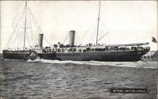 Ostende - Sortie De La Malle Steamship 1910 Used Postcard Station Cancel