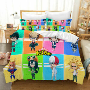 My Hero Academia 3D Quilt Cover Bedding Sets Pillowcase Twin Full Queen King