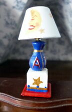 BEAUTIFUL Artist Made NURSERY Tole Painted Wired Lamp Dollhouse Miniature