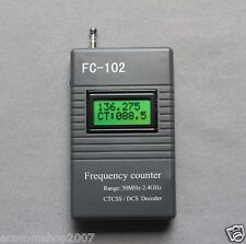 FC-102  Frequency counter Meter CTCSS/DCS Decoder for Radio 50MHz--2400MHz