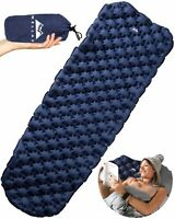 Ultralight Air Sleeping Pad - Inflatable Camping Mat for Backpacking, Traveling
