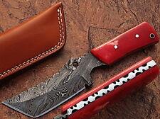 Badlands Tanto Tracker Knife Custom Damascus Steel Pattern Welded 55-60 HRC