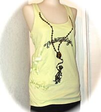 Green Christian Audigier Rosary City of Angels Ed Hardy Tank Top Small S