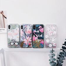 Glitter Quicksand Flamingo Soft Phone Case Cover For iPhoneX 6s 7 8Plus XR XsMax