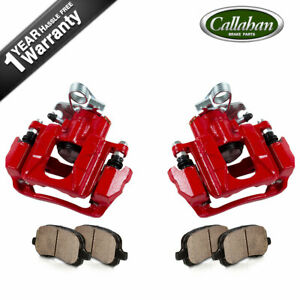 Rear Powder Coated Brake Calipers & Ceramic Pads For Explorer Flex Taurus MKT