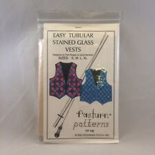 Fasturn patterns FP-140 Easy Tubular Stained Glass Vests sizes S-XL Sewing