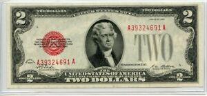 1928 A $2 Two Dollar United States Note AU FR#1502