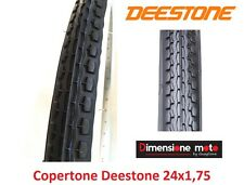 "Copertone ""DEESTONE"" Bianco/Nero 24x1,75 Stradale per Bici 24"" Olanda"