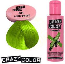 Renbow Crazy Color Lime Twist Semi-Permanent Hair Color Cream100ml  # 68