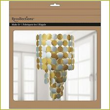 Metallic Paper Chandelier Kit by Recollections-NEW IN BOX