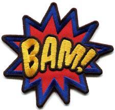 BAM! superhero comics comix retro fun embroidered applique iron-on patch S-1377