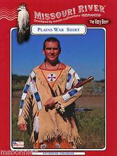 Missouri River Native American Indian Mens Plains War Shirt S-XXL Sewing Pattern