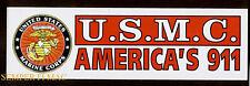 2 USMC AMERICA' 911 US MARINES BUMPER STICKER WOW L@@K